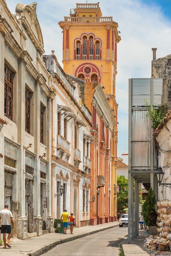 Universidad de Cartagena en la ciudad vieja, Cartagena, Colombia foto de archivo libre de regalías