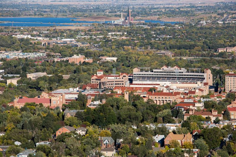 Universidad de ciudad de Boulder, Colorado fotografía de archivo libre de regalías