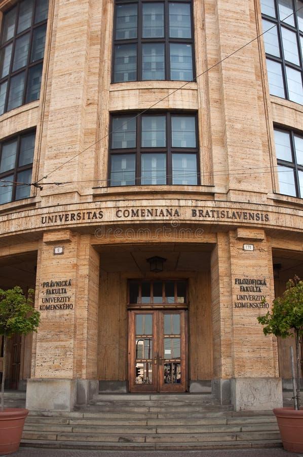 Universidad de Comenius en Bratislava fotos de archivo libres de regalías