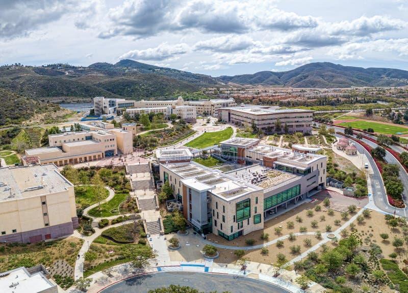Universidad de estado de California, San Marcos foto de archivo