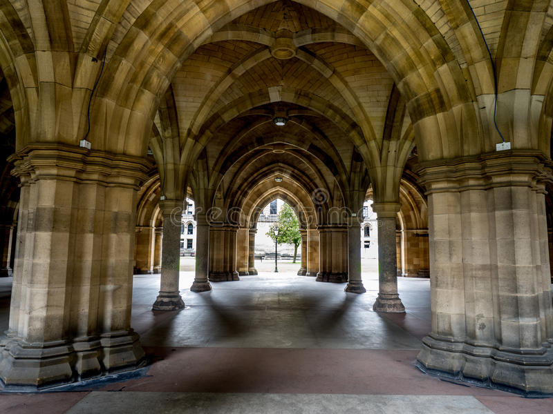 Universidad de Glasgow Cloisters foto de archivo