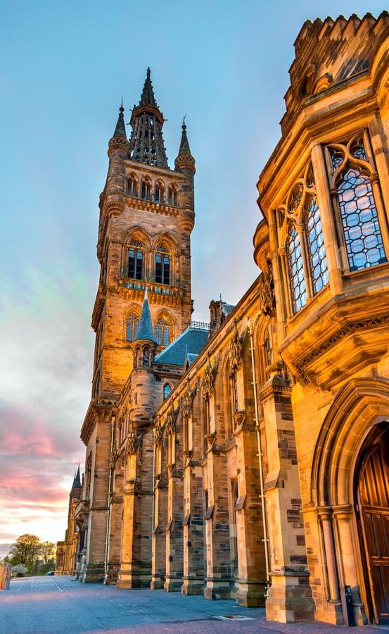 Universidad de Glasgow Main Building imagenes de archivo
