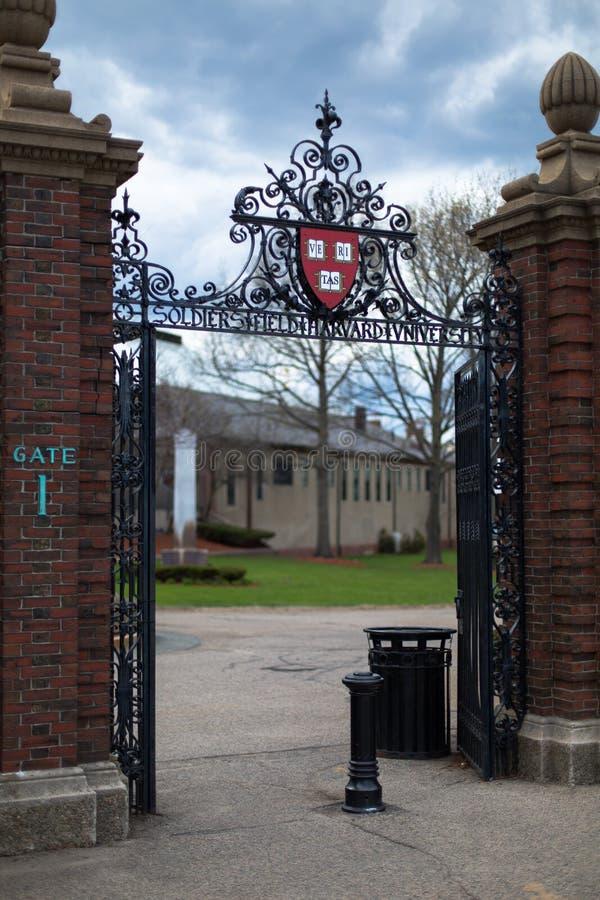 Universidad de Harvard del campo de los soldados fotografía de archivo libre de regalías