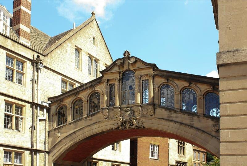 Universidad de Hertford, puente de suspiros, Oxford fotografía de archivo libre de regalías