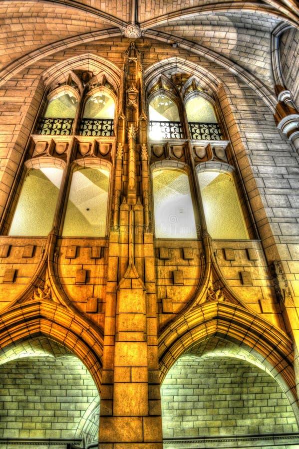 Universidad de la catedral de Pittsburgh del aprendizaje imagen de archivo