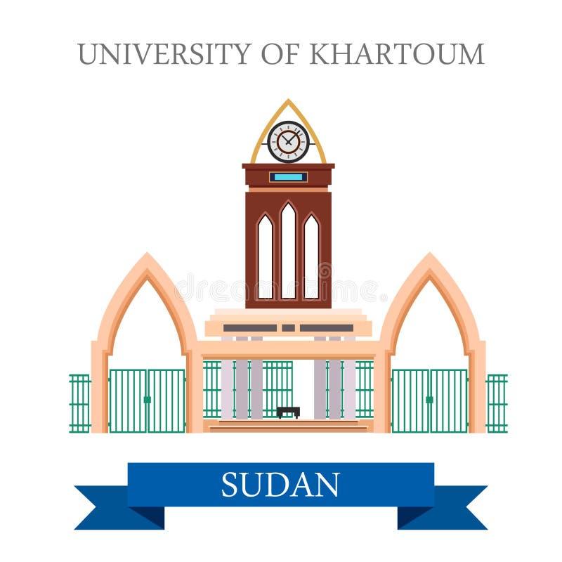 Universidad de la enfermedad plana del vector del estilo de Jartum Sudán libre illustration