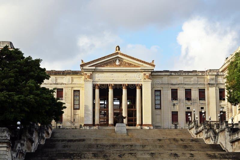 Universidad de La Habana en la capital de Cuba imagen de archivo