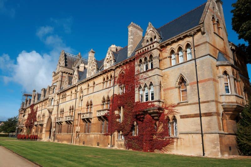 Universidad de la iglesia de Cristo. Oxford, Inglaterra imagen de archivo libre de regalías