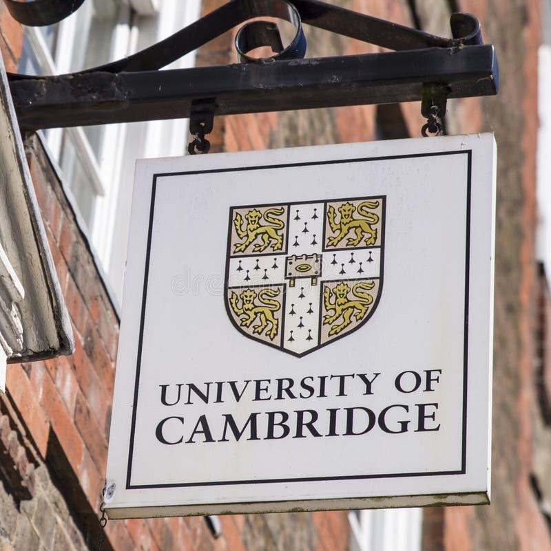 Universidad de la muestra de Cambridge foto de archivo libre de regalías