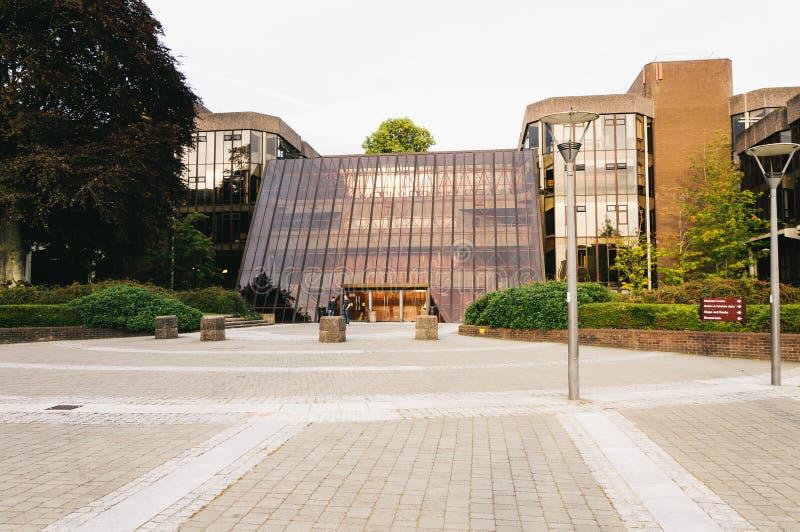 Universidad de la quintilla, Irlanda Edificio principal de la nueva escuela cerca de Bangkok, Tailandia fotos de archivo libres de regalías