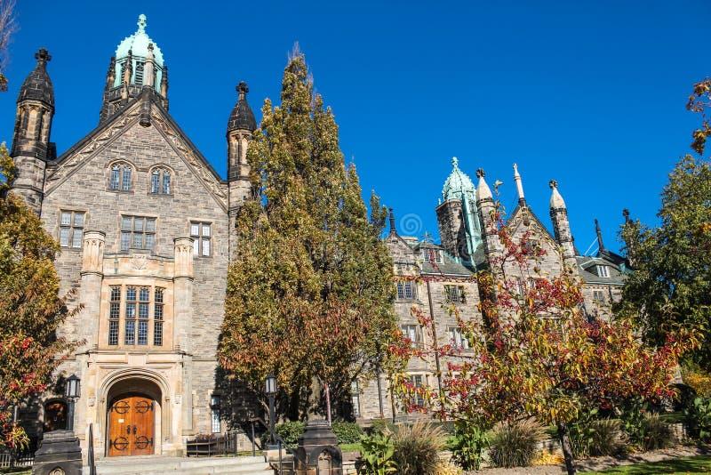 Universidad de la trinidad en la universidad de Toronto fotos de archivo