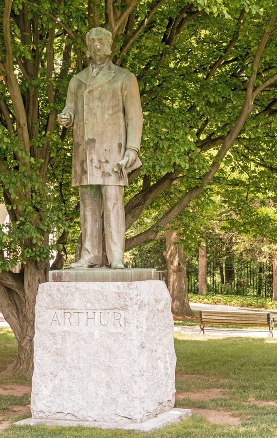 Universidad de la unión de la estatua de Chester Arthur fotos de archivo libres de regalías