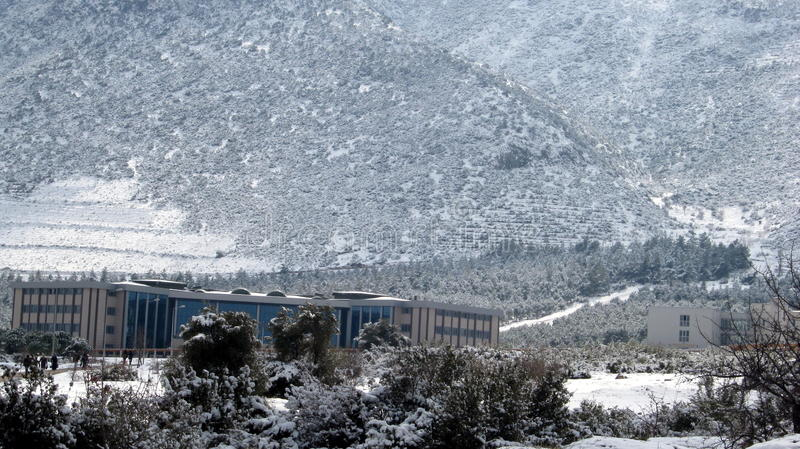 Universidad de Pammukale en Denizli, Turquía imagen de archivo libre de regalías