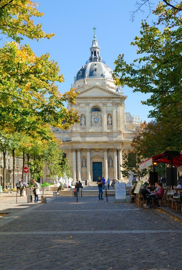 Universidad de París-Sorbonne, Francia Capilla del santo Ursula Sorbonne, o capilla de Sorbonne fotos de archivo libres de regalías