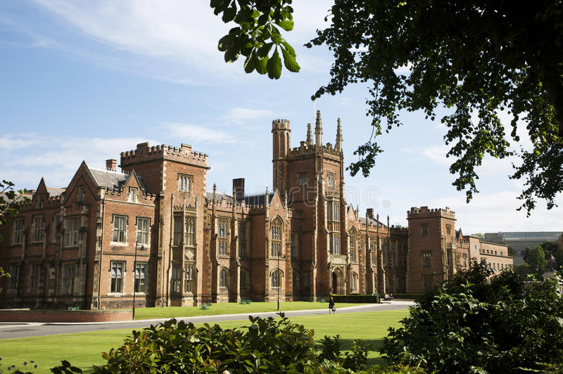 Universidad de Queens, Belfast, Irlanda del Norte foto de archivo libre de regalías