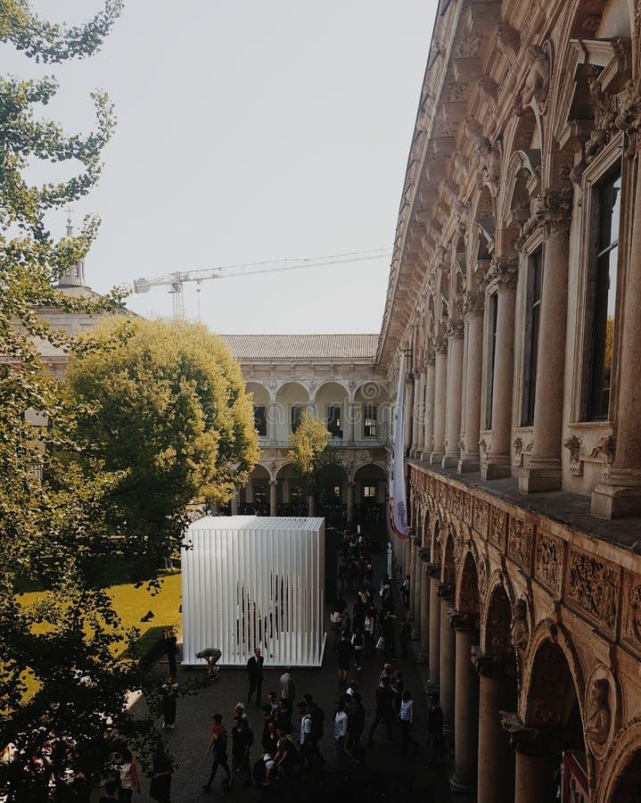 Universidad de Statale de Milano fotos de archivo libres de regalías
