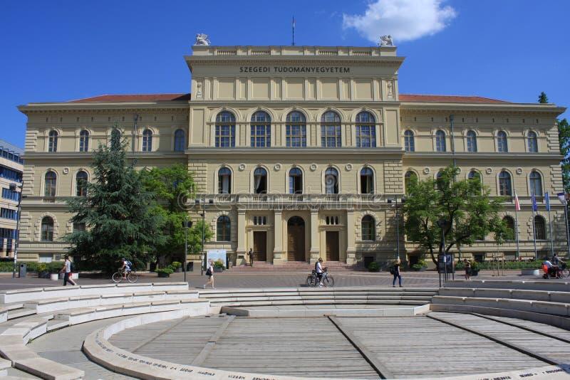 Universidad de Szeged, Hungría, región de Csongrad imágenes de archivo libres de regalías
