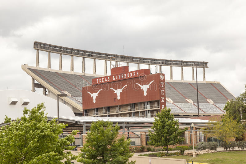 Universidad de Texas Stadium en Austin foto de archivo