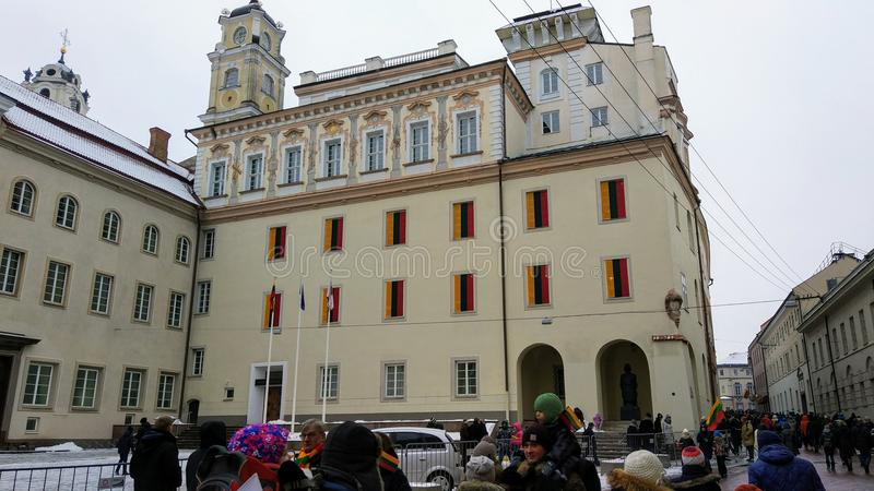 Universidad de Vilna imagenes de archivo
