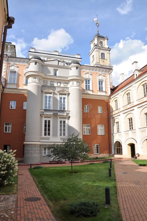 Universidad de Vilna fotos de archivo