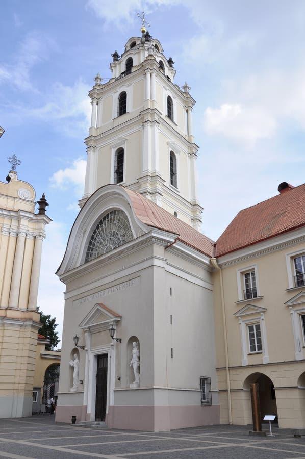 Universidad de Vilna en Lituania foto de archivo
