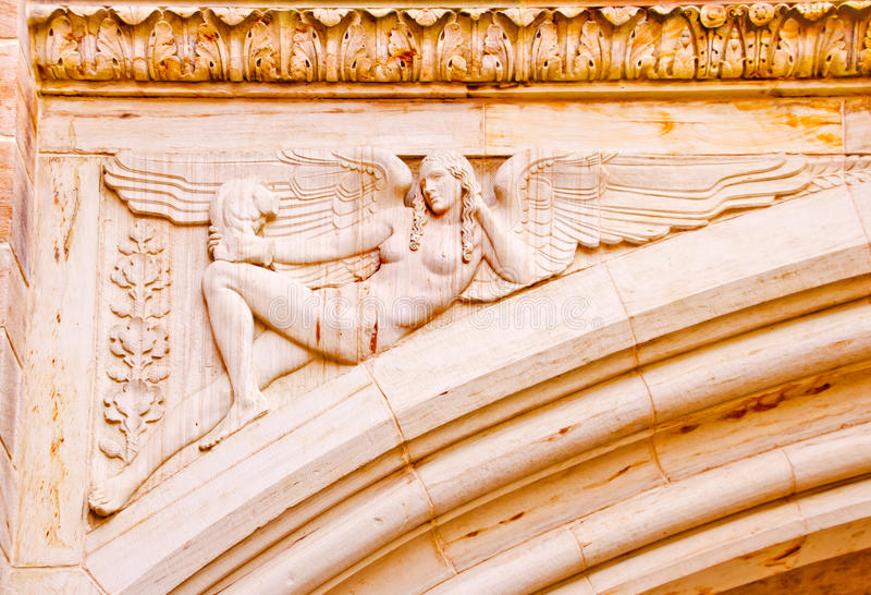 Universidad de Yale de piedra del arco del ángel foto de archivo libre de regalías
