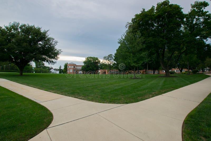 Universidad de York del campus de Pennsylvania fotos de archivo libres de regalías