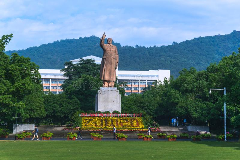 Universidad de Zhejiang en China imagenes de archivo