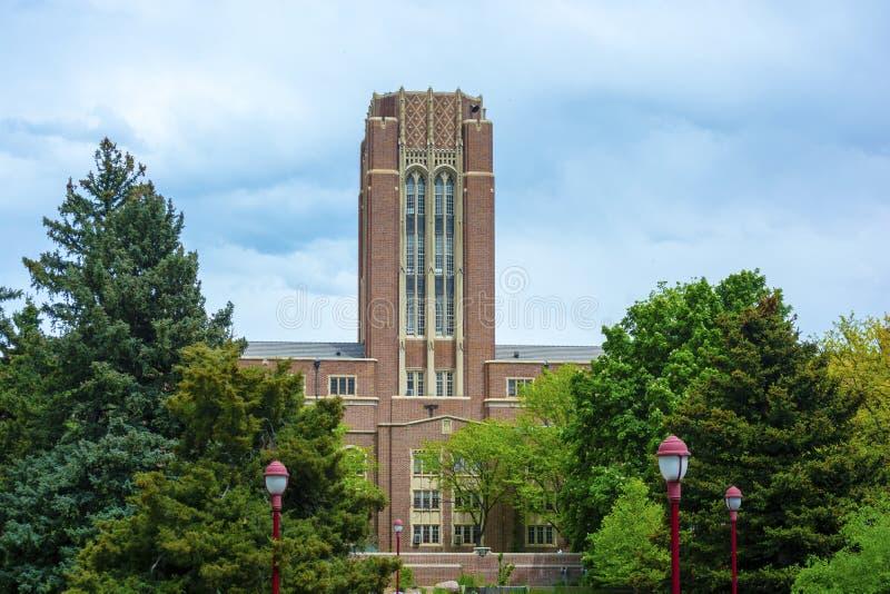 Universidad del campus de Denver en Denver, Colorado durante el día foto de archivo libre de regalías