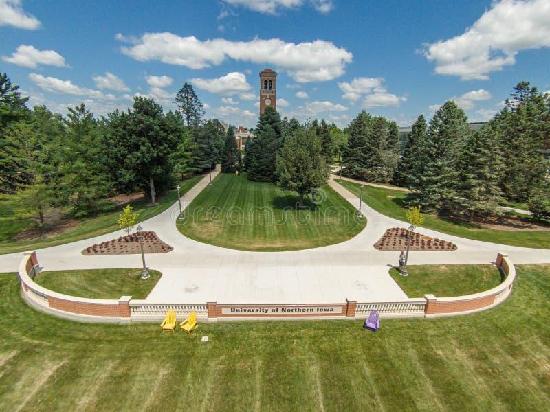 Universidad del campus septentrional de Iowa fotografía de archivo
