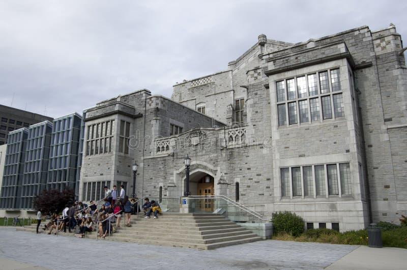 Universidad del campus Vancouver de la Columbia Británica fotografía de archivo