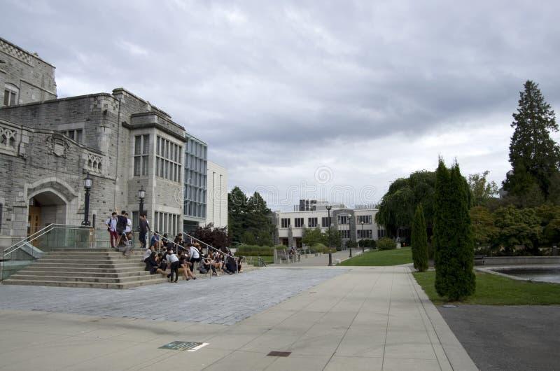 Universidad del campus Vancouver de la Columbia Británica imagen de archivo