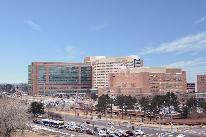 Universidad del complejo del hospital de Colorado en Denver, Colorado foto de archivo