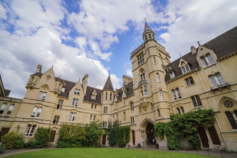 Universidad delantera de Balliol del cuadrilátero imagen de archivo libre de regalías