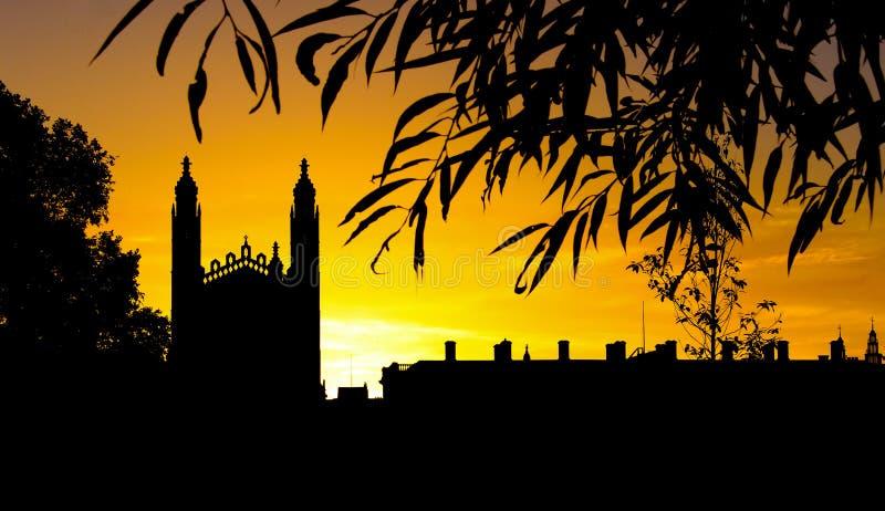 Universidad en el amanecer imagen de archivo