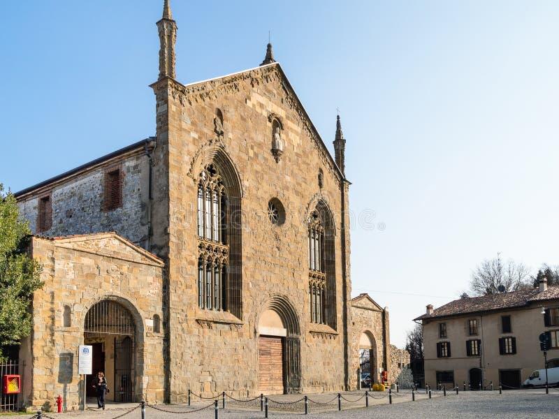 Universidad en el monasterio de Sant Agustín en Bérgamo imágenes de archivo libres de regalías