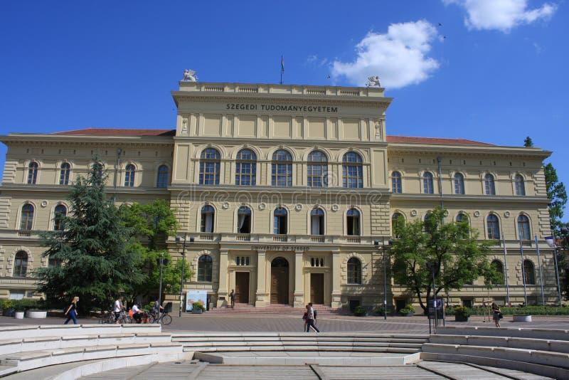 Universidad en Szeged, Hungría, región de Csongrad fotos de archivo