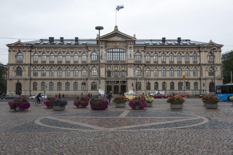 Universidad Helsinki del edificio principal fotos de archivo