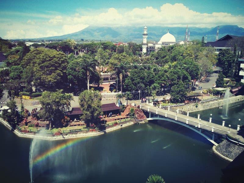 UNIVERSIDAD hermosa MUHAMMDAIYAH MALANG INDONESIA del campus foto de archivo libre de regalías
