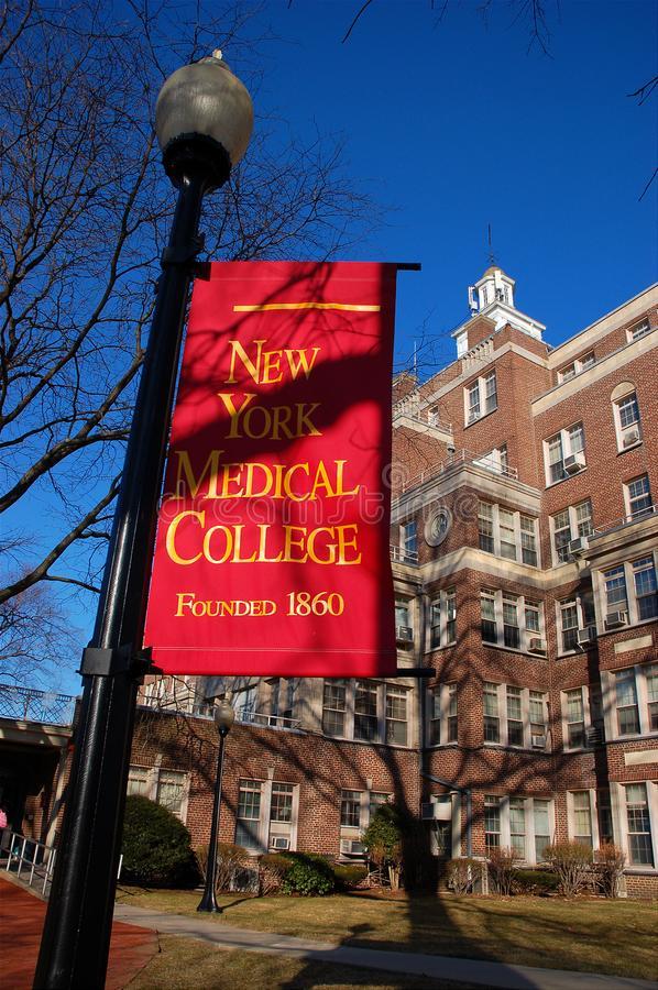 Universidad médica de Nueva York fotos de archivo