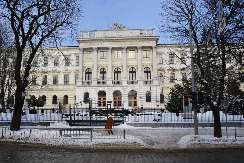 Universidad nacional politécnica Ucrania de Lviv fotos de archivo