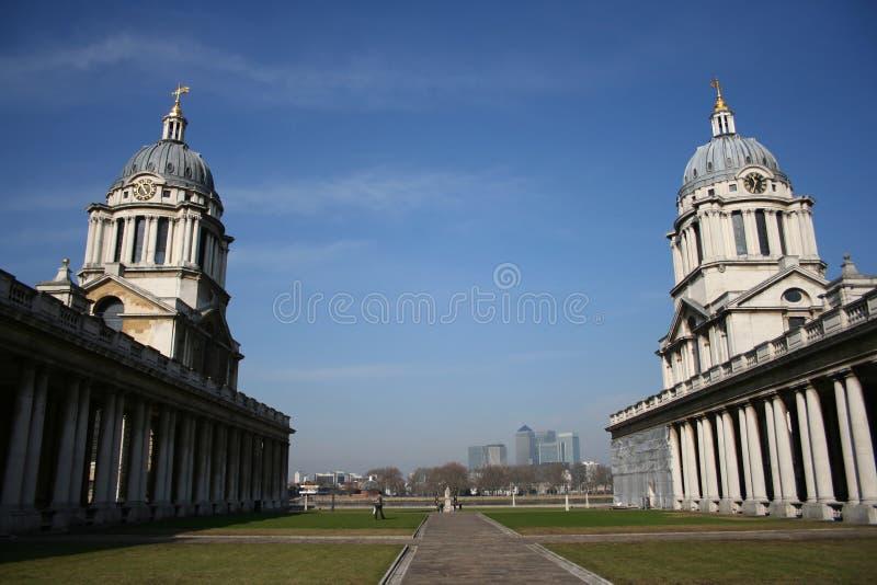 Universidad naval real, Greenwich fotografía de archivo