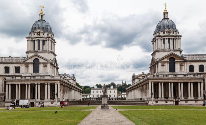 Universidad naval real Greenwich Inglaterra foto de archivo