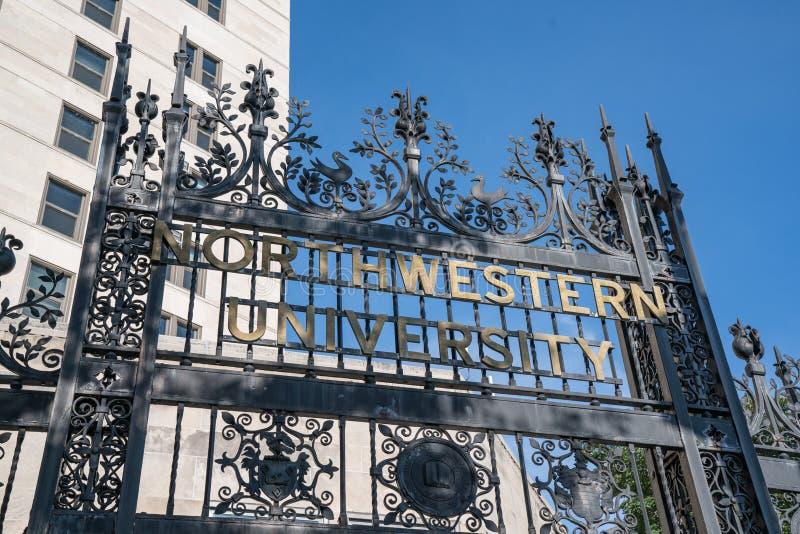 Universidad Northwestern Chicago imagen de archivo