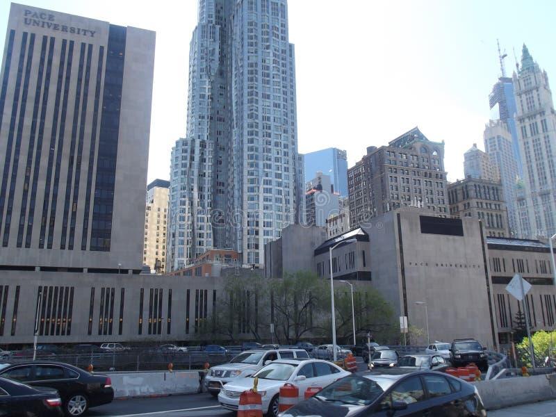 Universidad Nueva York del paso imagenes de archivo