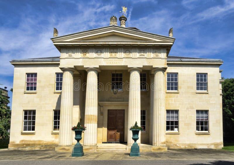 Universidad que traga en Cambridge, Reino Unido imágenes de archivo libres de regalías