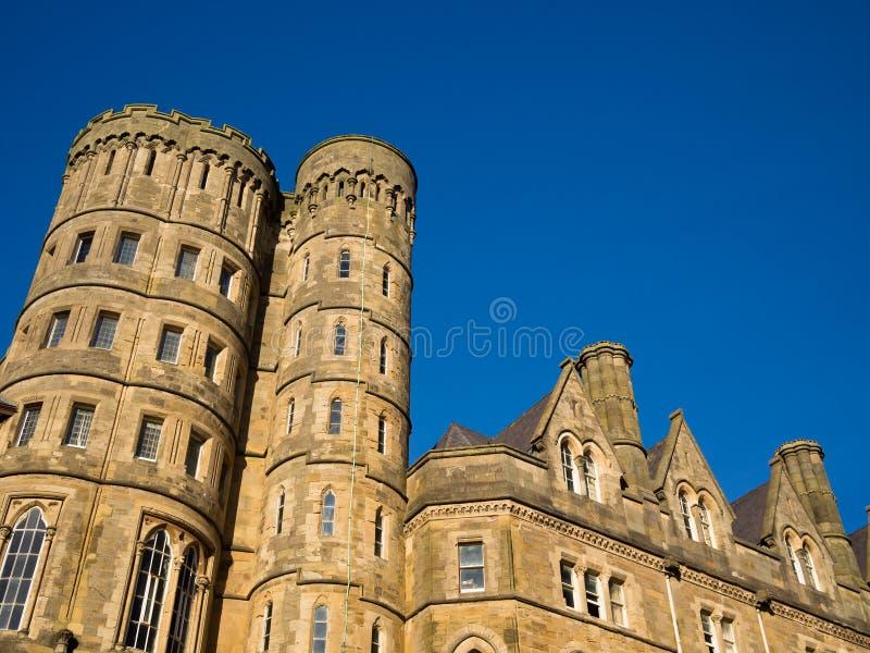 Universidad vieja de la universidad de Aberystwyth, País de Gales fotos de archivo libres de regalías