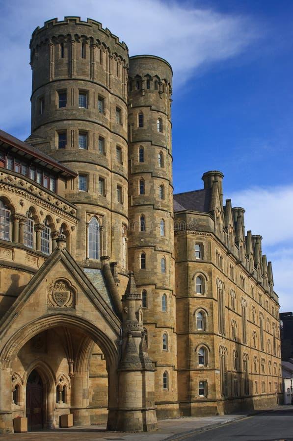 Universidad vieja, universidad de Aberystwyth fotografía de archivo libre de regalías