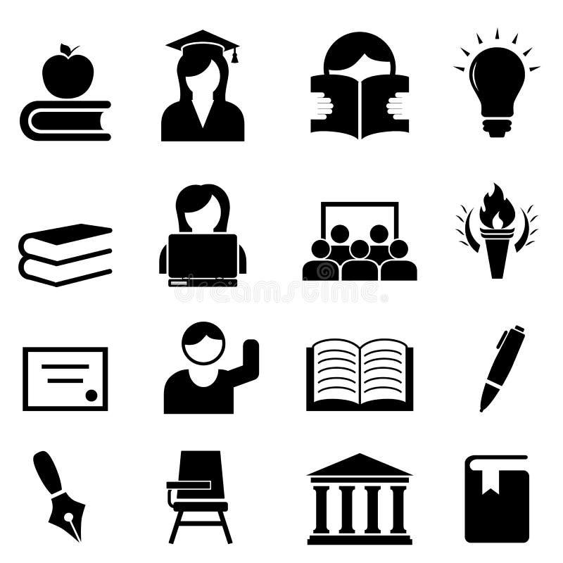 Universidad y una educación más alta stock de ilustración