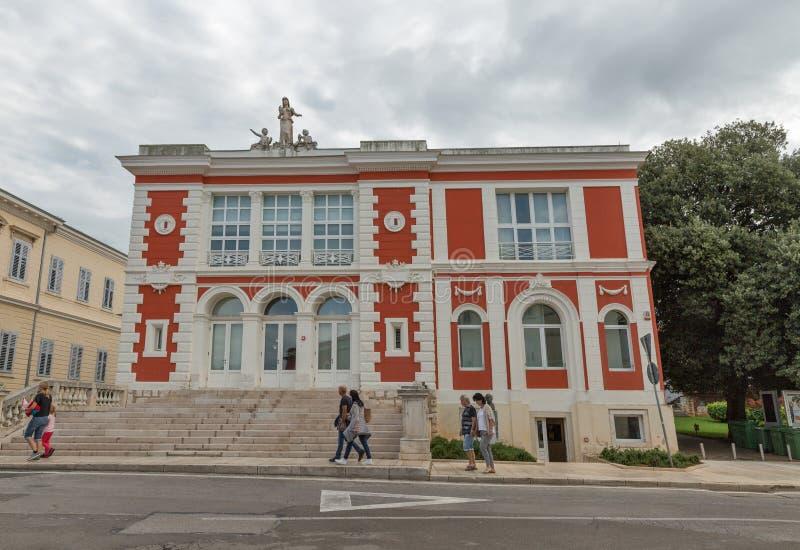 Universidade aberta em Porec, Crioatia imagem de stock